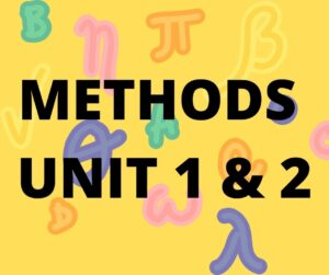 Victoria Maths Methods Unit 1 & 2
