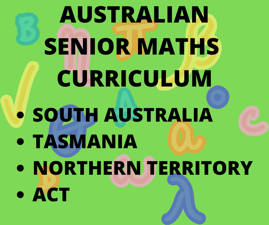 Australian Senior Maths Curriculum